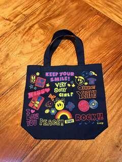 Fun Retro Denim Canvas Bag