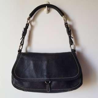 PRADA Vitello Daino Leather Flap Shoulder Bag