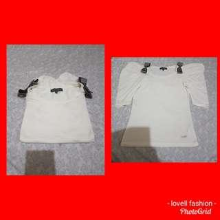 Korean tops with ribbon