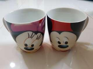 Mickey and Minnie Couple Cups