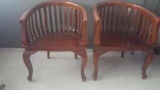 2+1 Vintage Wooden Sofa Chair