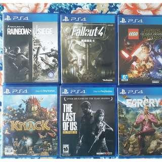 PlayStation PS4 Games - Lego, Fallout, Rainbow Six, Knack