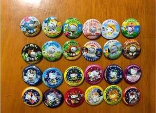 🎁 Free gift Sanrio 7-11 Hello Kitty 絕版 收藏 生肖 星座 星肖奇緣 㩒針 扣針 🌟