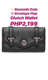 Flap clutch wallet by Kenneth Cole