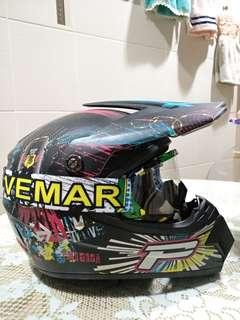 Escooter Full Face Helmet with Vemar Goggles