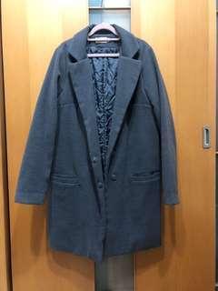 🚚 翻領配色西裝外套-深灰