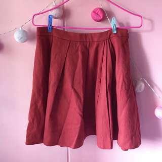 🚚 Brick Red Skirt