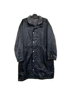 🚚 古著kappa經典雙人logo鋪毛長版防風外套