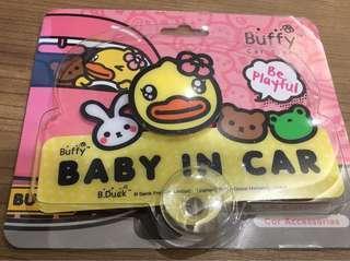 正品 B duck Baby in Car