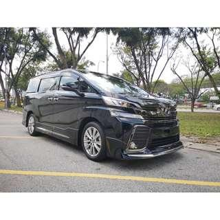 ALMOST NEW Toyota VELLFIRE 2.5 GOLDEN EYE EDITION 7SEATERS UNREG