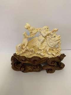 象牙雕 童子像