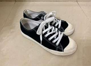 (包順豐)無印黑色布鞋