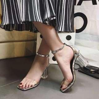 Transparent / Clear Block Heels