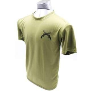 Military Police Green Round neck T-shirts (Dry fit)