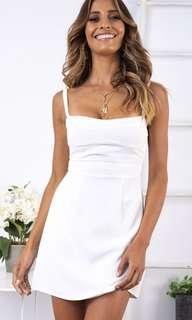 Stelly White Panel Detail Design Dress