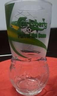 Vintage Glass Carlsberg World Football of Brazil