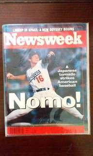 🚚 保存許久1995/7  newsweek nomo【野茂英雄】封面
