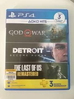 PS4 Games: Swap/Sell Bundle Games; God of War IV & Detroit: Become  Human