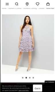 New look premium purple floral skater dress