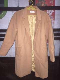 Camel Beige Overcoat Trench Coat Long Coat