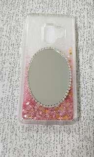 Samsung S9 casing with floating glitters & mirror