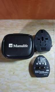 🚚 Manulife world travel adapter & USB charger