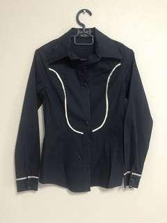 🚚 Navy Blue Long Sleeve Shirt