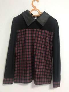 Checkered Long Sleeve Top