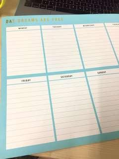 🚚 Typo Magnetic Weekly Planner A3