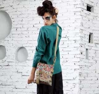 Crossbody female canvas Korean version 2019 new fashion simple wild shoulder bag mini ladies small bag