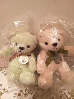 全新Crabtree Evelyn Teddy Bear 2隻