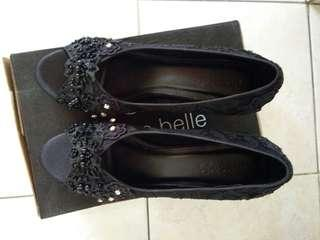 Sepatu Lace Satin Hell made in Divites Belle