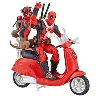 VERY RARE & HOT! *Pre-Order* Hasbro Marvel Legends Deadpool with Scooterand Dogpoo + Squirrelpool!