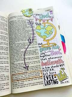 🚚 JOURNALLING BIBLE ! DESIGNED FOR LADIES / GIRLS