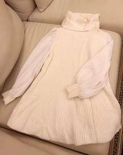 Saidel日本品牌寬高領毛衣洋裝