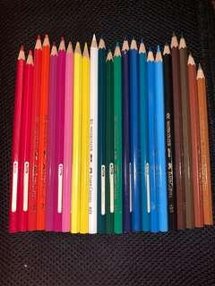 🚚 24 FABER CASTELL WATERCOLOUR PENCILS