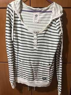 🚚 Roxy Striped white/black hoodie