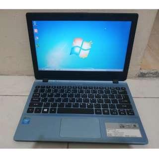 Netbook Acer V5-123p Celeron Ram 2GB Hdd 500GB Warna Biru Cantik