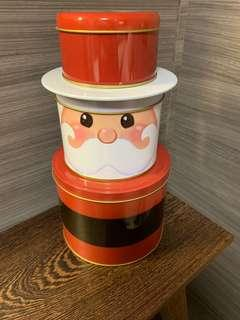 Santa Claus cookie tin