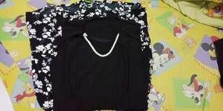 Dress hitam bunga2