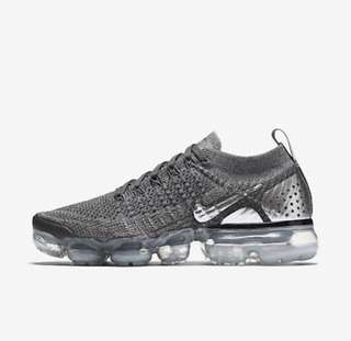ee48e733c4589 Authentic Nike Air Vapormax flyknit 2 women running shoe dark grey chrome