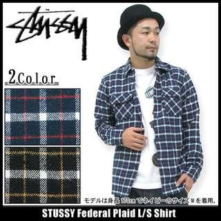 Stussy Black orange check shirt Size S fragment Neighborhood