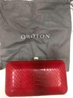 Oroton Red Clutch