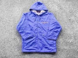 🚚 藍紫刺繡刷毛古著外套