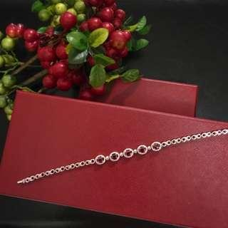 Authentic Ruby with White Gold Bracelet
