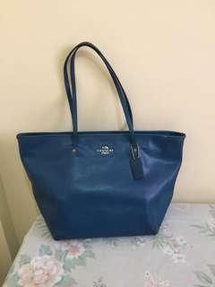 Authentic Coach zipper Tote (repriced)