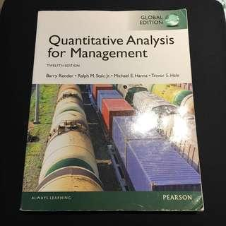 管理數學-quantitative analysis for management 12th edition
