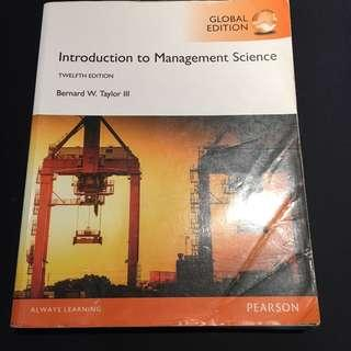 管理數學-introduction to management science 12th edition