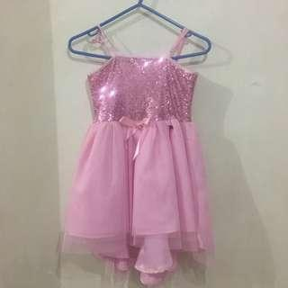 Preloved Original Barbie Pink Shimmering Dress