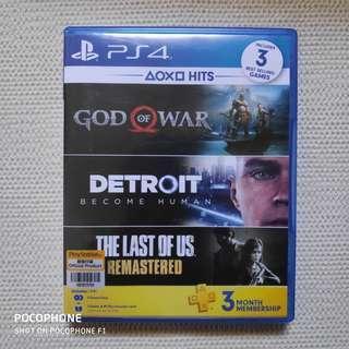 PS4 Hits Bundle God of War and Detroit Become Human